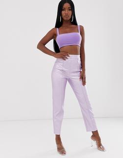 ASOS DESIGN - vinyl spray on trouser in lilac
