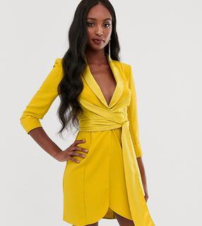 ASOS DESIGN - Tall mini tux dress with self belt
