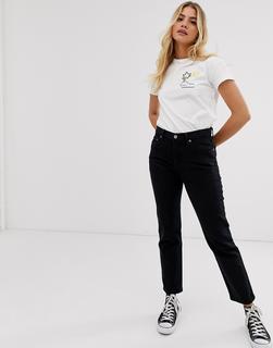 Levis - 501 crop jean in black