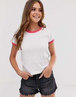 Brave Soul - claudia t shirt with contrast trim