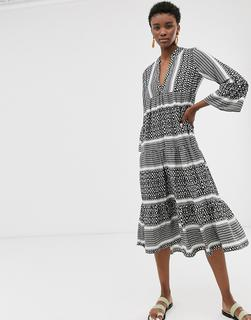 ONLY - printed smock midi dress