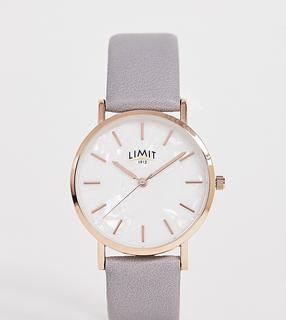 Limit - faux leather watch in grey exclusive to ASOS