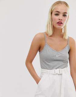 Nike - grey mini swoosh bodysuit