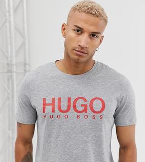 HUGO - Dolive – Graues T-Shirt mit Logo