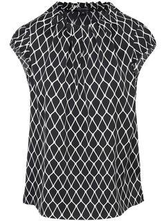comma - Satin blouse graphic print comma, multicoloured