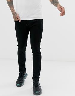 G-Star - Eng geschnittene Jeans in Schwarz