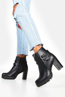 boohoo - Womens Double Buckle Block Heel Chelsea Boots - Black - 5, Black