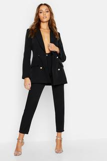 boohoo - Womens Tailored Trouser - Black - 12, Black