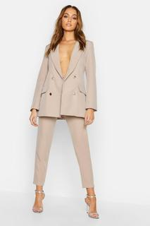 boohoo - Womens Tailored Trouser - Beige - 8, Beige
