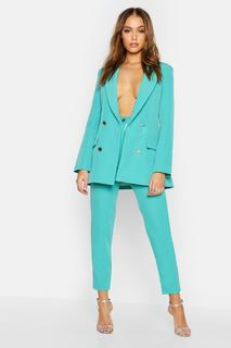 boohoo - Womens Tailored Trouser - Green - 14, Green