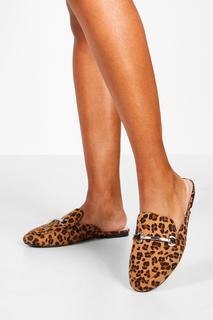 boohoo - Womens Loafer Mit Metallrand - Leopard - 39, Leopard
