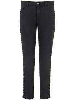 Emilia Lay - Jeans leopard-print stripe Emilia Lay black