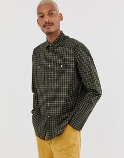 ASOS DESIGN - Oversized-Hemd mit Gitterkaros-Grün