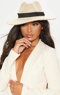 PrettyLittleThing - White Basic Fedora Hat, White