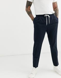Weekday - Thriller joggers with pinstripe in navy