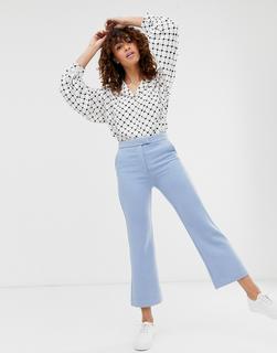 Monki - flared trousers in light blue