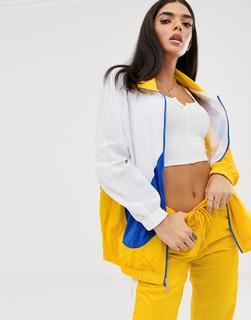 Nike - Yellow Blue And White Oversized Swoosh Track Jacket