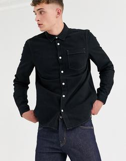 Weekday - classic denim shirt in washed black