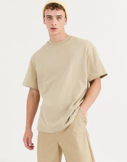 Weekday - relaxed fit t-shirt in beige