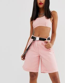 ASOS DESIGN - utility and text webbing waist and hip belt in black