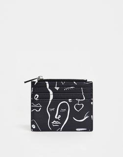 ASOS DESIGN - face print cardholder with coinpurse
