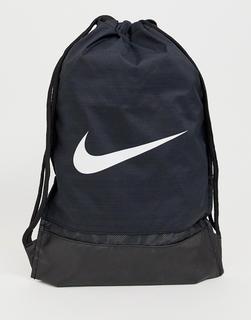 Nike - Swoosh drawstring bag In black