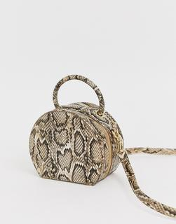 Chateau - Circular Tan Snake Cross Body Bag