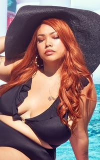 PrettyLittleThing - Black Extra Large Oversized Sun Hat, Black