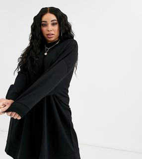 ASOS Curve - ASOS DESIGN Curve oversize mini sweat dress