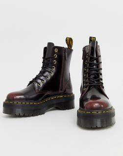 DR. MARTENS - Jadon chunky leather ankle boots in cherry