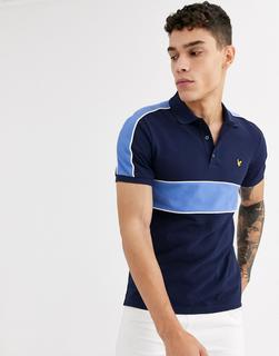 Lyle & Scott - cut and sew polo shirt