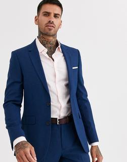 Burton Menswear - slim suit jacket in blue