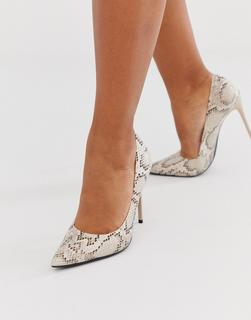 Truffle Collection - pointed heeled stiletto in snake