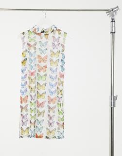 Parisian - tie side velvet dress