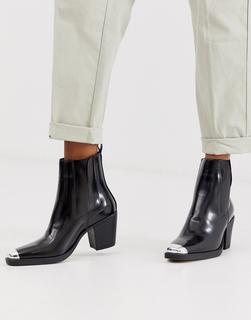 Truffle Collection - western toe cap boot in black
