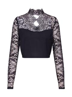 Missguided - Shirts ´Black Friday Eyelash Lace Panel Crop Top´