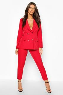 boohoo - Womens Tailored Trouser - 10, Red