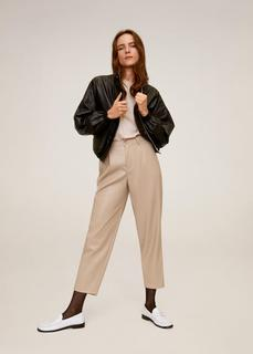 MANGO - Relaxed fit-hose in cropped-länge