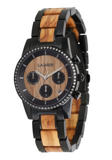 Laimer - Damen Armbanduhr Holzuhr ´Klara´
