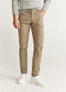 MANGO MAN - Slim fit twill-hose mit jeans-effekt