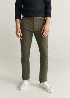 MANGO MAN - Tapered fit hose in cropped-länge