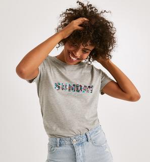 Promod - T-Shirt mit Text-Print