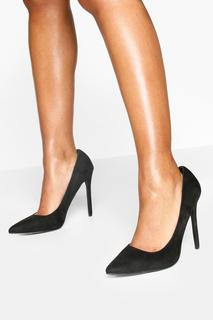 boohoo - Womens High Heel Pointed Court Shoes - Black - 8, Black