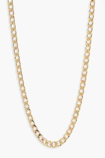 boohoo - Womens Simple Curb Chain Necklace - Metallics - One Size, Metallics