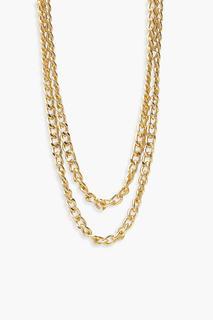 boohoo - Womens Layered Chain Necklace - Metallics - One Size, Metallics