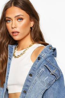 boohoo - Womens Multi Link Choker - Metallics - One Size, Metallics