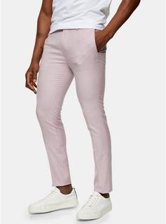Topman - Mens Purple Lilac Super Skinny Fit Suit Trousers, Purple