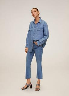 MANGO - Flared jeans mit hohem bund