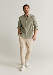 MANGO MAN - Regular fit-hemd mit stehkragen