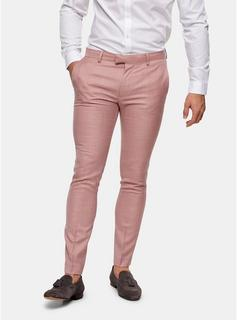 Topman - Mens Pink Super Skinny Fit Suit Trousers, Pink